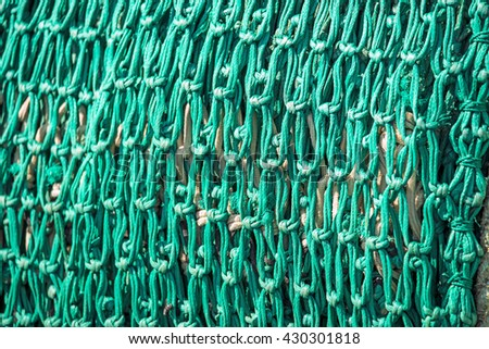 green fishing net - stock photo