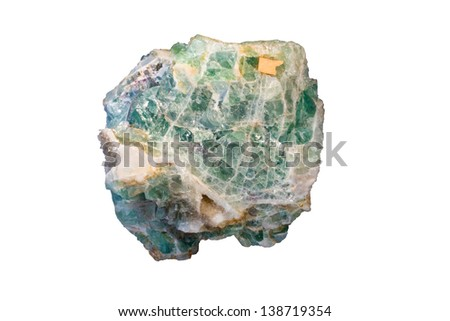 Green fluorite - stock photo