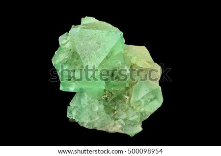 Green fluorite from Riemvasmaak, North Cape province, South Africa.