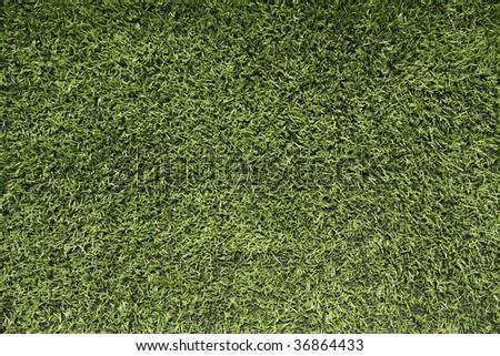 Green Football Artificial Turf - stock photo
