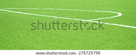 green football field - stock photo