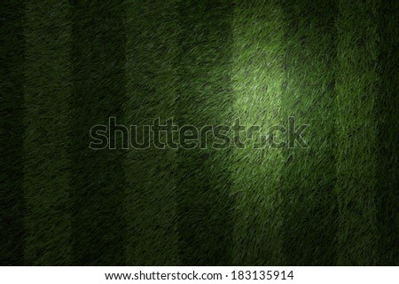 Green football field with spot light - stock photo