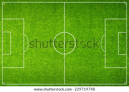 Green Football Stadium field - stock photo
