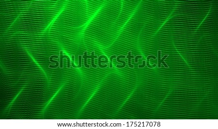 Green fractal abstract background - stock photo