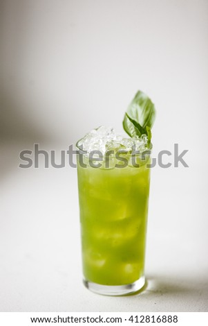 Green fresh jucy Cocktail