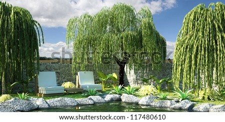 Green Garden - stock photo
