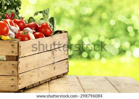 green garden and fresh food  - stock photo