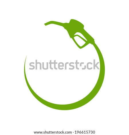 Green gas pump icon