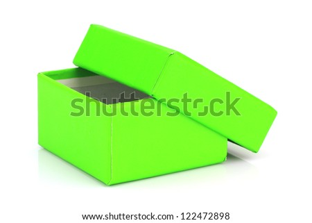 Green Gift Box On White Background