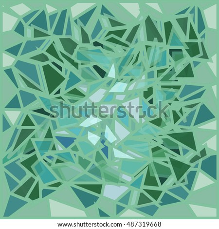 green glass broken