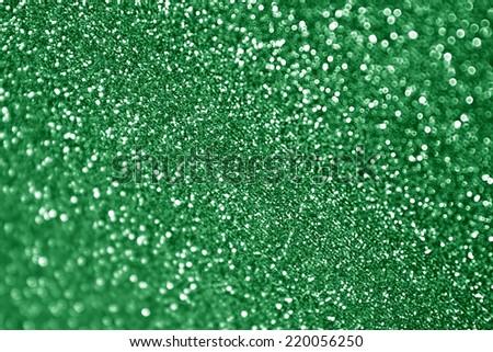 Green glitter sparkle Christmas background - stock photo