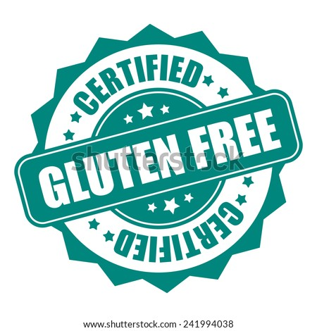 Green gluten free certified icon, tag, label, badge, sign, sticker isolated on white - stock photo
