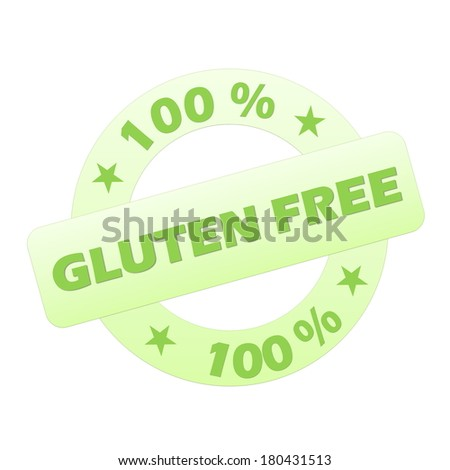 Green gluten free stamp isolated in white background