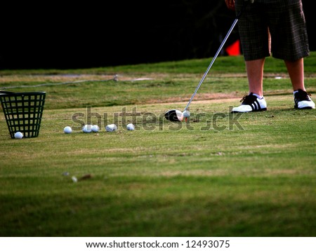 Green Golf Course Series - Lining up the shot on the driving range