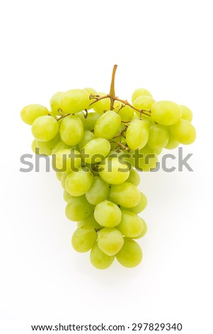 Green grape fruit isolated on white background