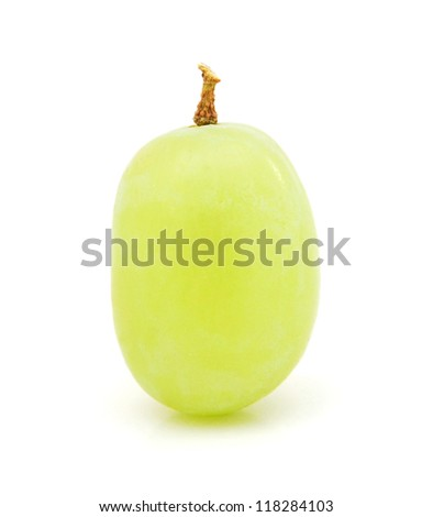 Green grape isolated on white, clipping path included