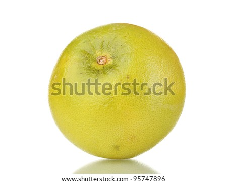 green grapefruit isolated on white