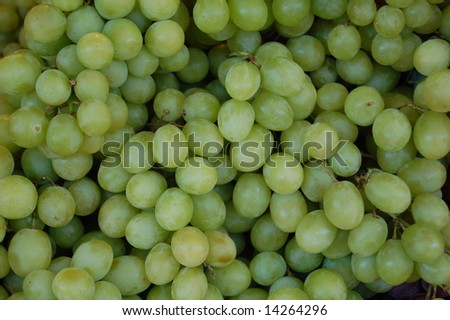green grapes 2 - stock photo