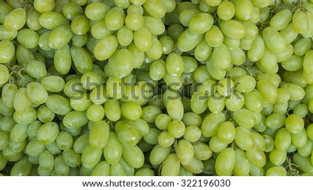 Green grapes not cleaning - stock photo