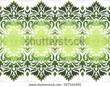 green graphic pattern