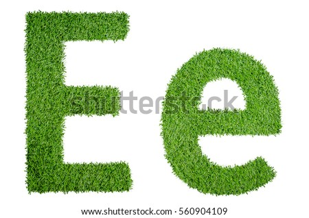 Green grass alphabet ee capital letter stock illustration 560904109 green grass alphabet ee in capital letter and small letter isolated on white background thecheapjerseys Choice Image