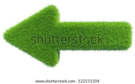 green grass arrow - stock photo