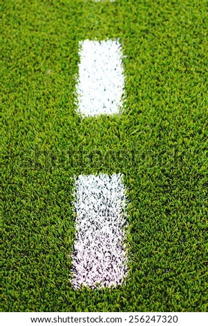 Green grass soccer field is used for playing soccer./Football field./Green grass soccer field is used for playing soccer. - stock photo