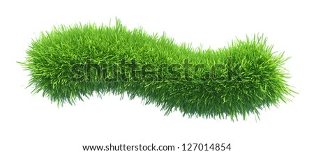Green grass tilde - stock photo