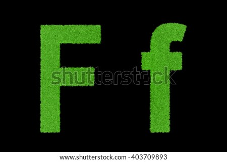 Green grass with English letters
