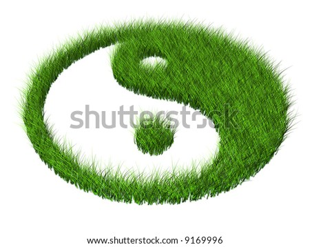green grass yang symbol religion