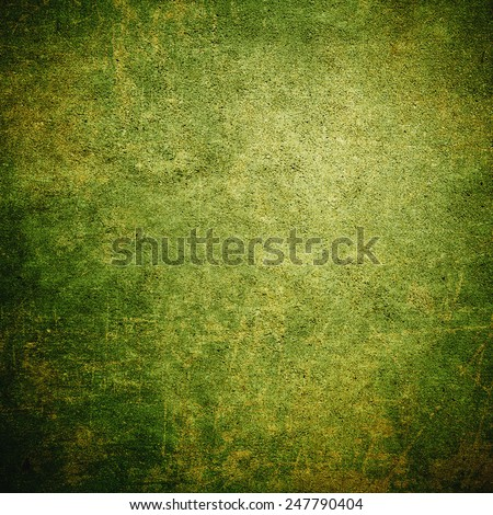 Green grunge background wall - stock photo
