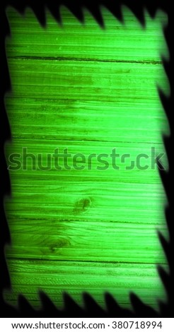 Green Grunge Wooden Background / Background picture made of old green wood boards