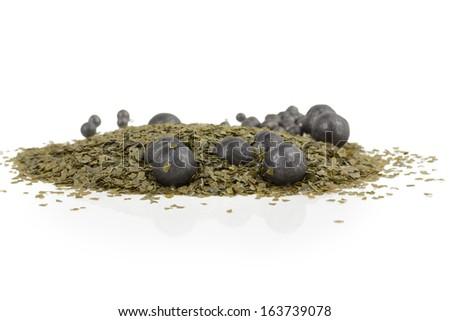 Green gunpowder - stock photo