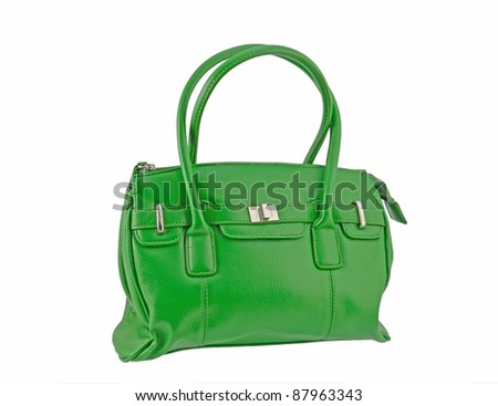Green Handbag - stock photo