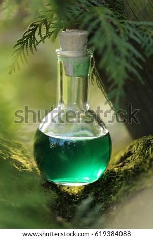 Herbal magic water bottle