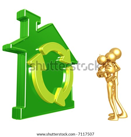Green Home - stock photo