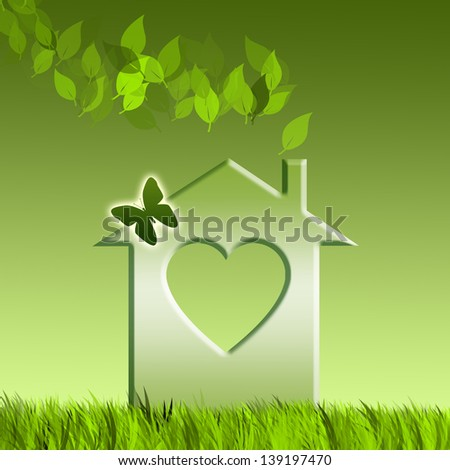 Green home for Recycling - stock photo