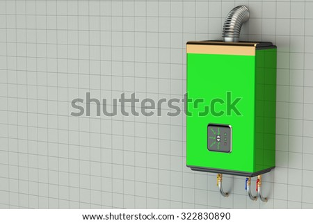 Green home gas-fired boiler, water heater