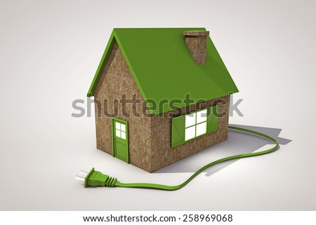 green house isolated on white background - stock photo