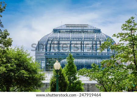 Green house  of the National Botanic Garden, Washington DC - stock photo