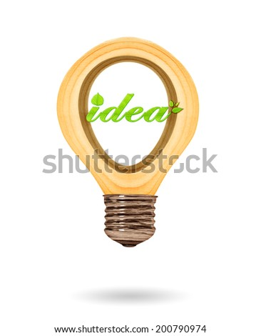 Green ideas innovation, eco bulb energy icon,  Concept of Eco technology - stock photo