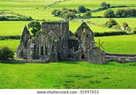 Green Ireland - stock photo