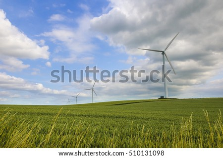 Green is Beautiful. Wind energy keeps our sky blue and grass green.