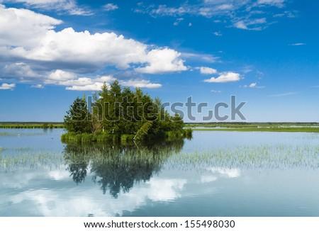 Green Island Lake Serenity  - stock photo