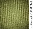 green knitting fabric background - stock photo