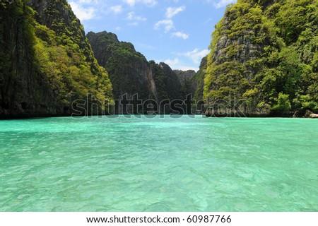 green lagoon - stock photo