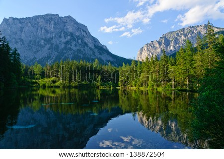 Green lake (Gr�¼ner see) in Bruck an der Mur, Austria