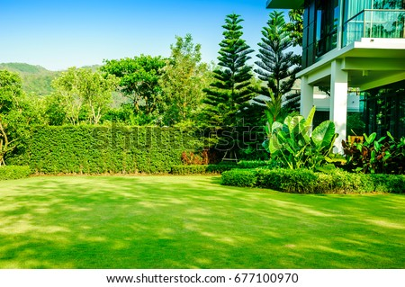 modern house green front yard stock images royalty free images vectors shutterstock