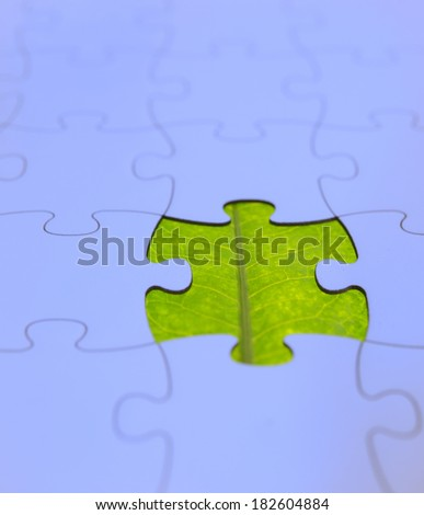green leaf like missing puzzle field