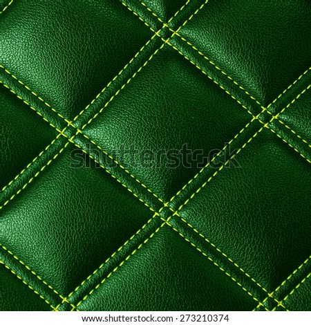 Green leather background or texture  - stock photo